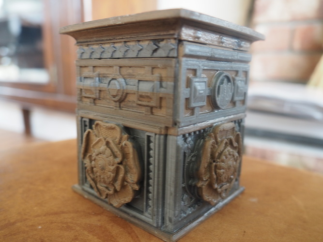 The Tudor Rose Box (with secret lock) 3D Print 3452