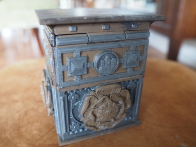 The Tudor Rose Box (with secret lock) 3D Print 3453