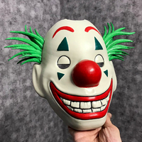 Small Joker Mask 2019 with hair - Clown mask 2019 - Halloween Mask  3D Printing 34614