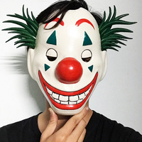 Small Joker Mask 2019 with hair - Clown mask 2019 - Halloween Mask  3D Printing 34616