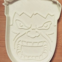 Small Cookie cutter Hulk-100  (Free) 3D Printing 34694