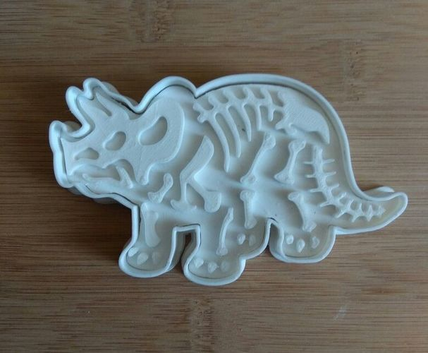 Dinosaurs- Trirog stamp-Cookie cutters-100mm 3D Print 34700