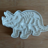 Small Dinosaurs- Trirog stamp-Cookie cutters-100mm (Free) 3D Printing 34700