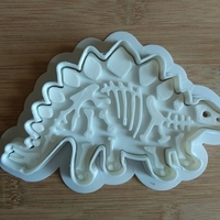Small Dinosaurs-Bronezavr-stamp-Cookie cutters-100mm (Free) 3D Printing 34702