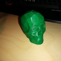 Small Low Poly Skull 3D Printing 3514