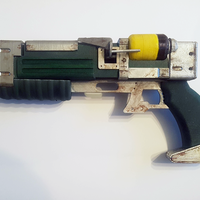 Small Fallout Laser Pistol 3D Printing 35205