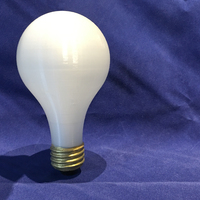 Small 3D Printed Light Bulb 3D Printing 3539