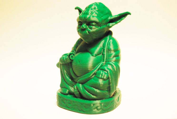 Improved Yoda Buddha w/ Lightsaber  3D Print 3546