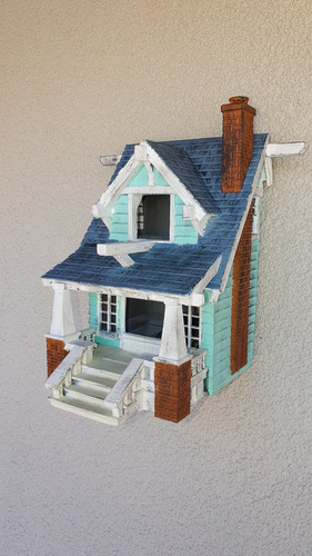 the American Craftsman Bungalow Birdhouse 3D Print 35743