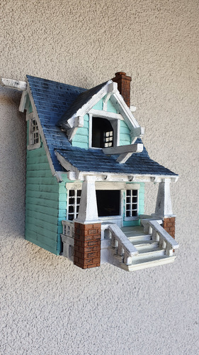the American Craftsman Bungalow Birdhouse 3D Print 35745