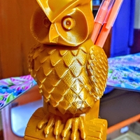 Small OWL PEN HOLDER 3D Printing 35781