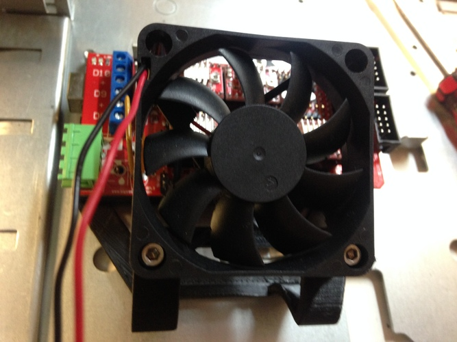Arduino/RAMPS 1.4 base plate with 60mm Fan mount 3D Print 3579