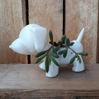 Small Plant vase the dog 3D Printing 35806