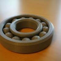 Small Fully Assembled Ball Bearing 3D Printing 3600