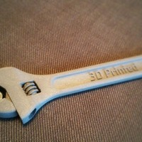 Small Fully assembled 3D printable wrench 3D Printing 3603