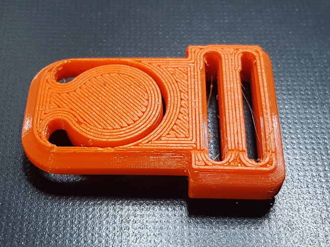 Centre (Center) Release Buckle   3D Print 36581