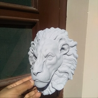 Small lion head 3D Printing 36875