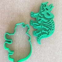 Small Dinosaurs- Trirog stamp-Cookie cutters-100mm 3D Printing 36968