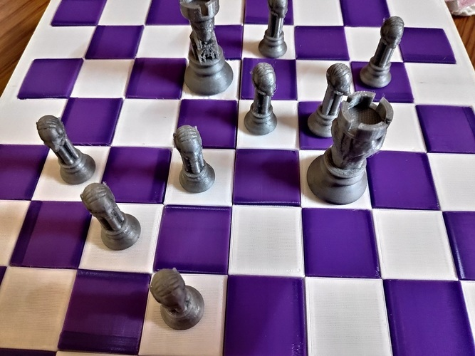 CHESS BOARD AVENGERS VS JUSTICE LEAGUE 3D Print 37080