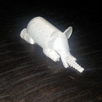 Small Elephant 3D Printing 3735