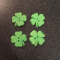 Small MakerTree 3D: Shamrock button 3D Printing 3791