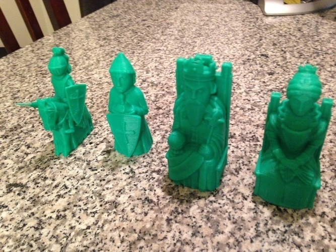Medieval Times Themed Chess Set 3D Print 37924