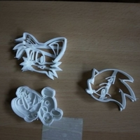 Small Sonic and fox-Cookie cutters-60 (Free) 3D Printing 37929