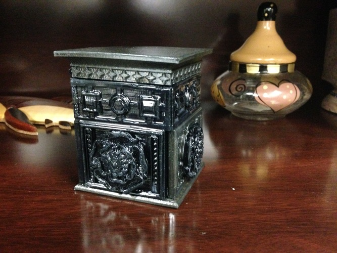 The Tudor Rose Box (with secret lock) 3D Print 3860
