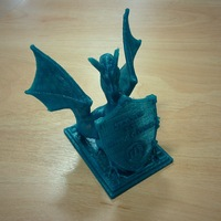 Small Roark The Dragon (DragonOff 2015 trophy) 3D Printing 3931