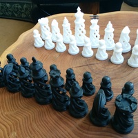 Small Spiral Chess Set (Large) 3D Printing 418
