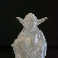 Small Improved Yoda Buddha w/ Lightsaber  3D Printing 4185