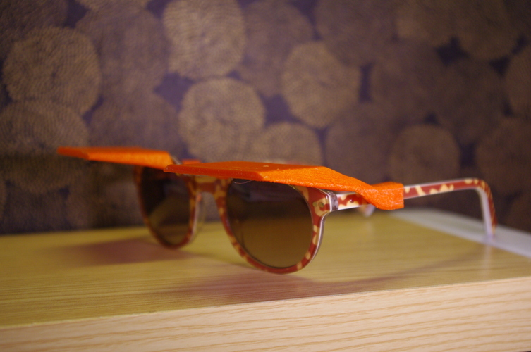 Sun Shades - Clip on Shades for Sunglasses 3D Print 4251