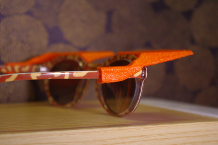 Sun Shades - Clip on Shades for Sunglasses 3D Print 4253