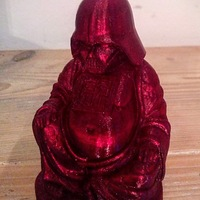 Small Darth Vader Buddha with saber 3D Printing 4407