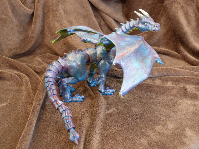 """Braq""  jointed dragon 3D Print 4459"