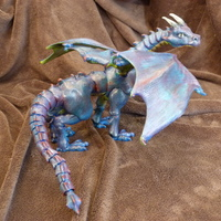 "Small ""Braq""  jointed dragon 3D Printing 4459"