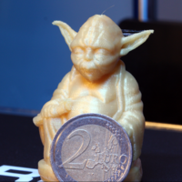 Small Improved Yoda Buddha w/ Lightsaber  3D Printing 4474