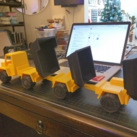 Small Toy Dump Truck Trailer 3D Printing 4532