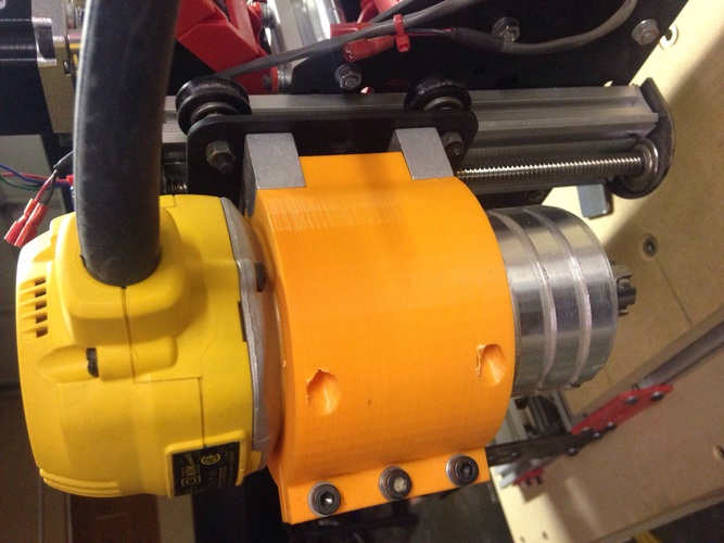 Low Leverage DW611 Spindle mount for Shapeoko 2 3D Print 457