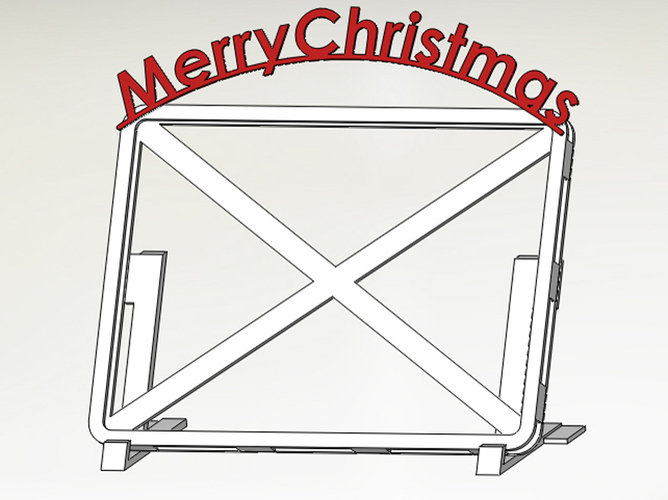 Alternative Christmas Card/Frame 3D Print 4576