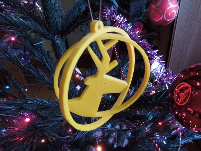 Deer ring for Christmas 3D Print 4590