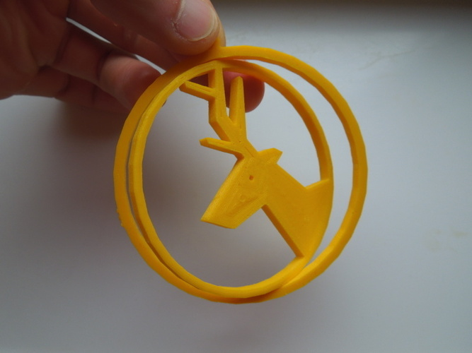 Deer ring for Christmas 3D Print 4591