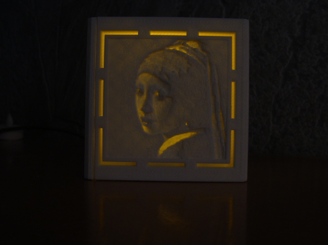 [PICtart] Lightcube with Lithophane Paintings 3D Print 4681