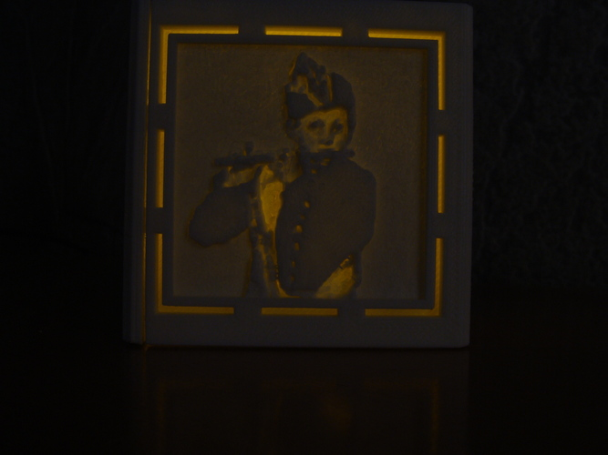 [PICtart] Lightcube with Lithophane Paintings 3D Print 4682