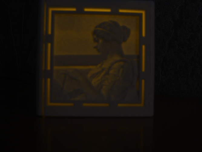 [PICtart] Lightcube with Lithophane Paintings 3D Print 4683