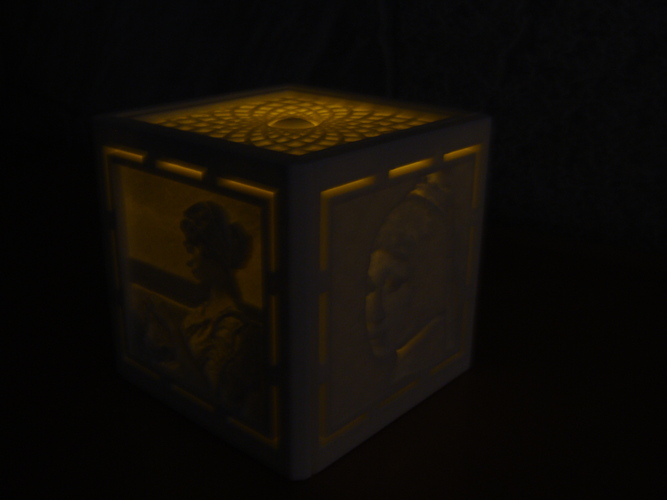 [PICtart] Lightcube with Lithophane Paintings 3D Print 4686