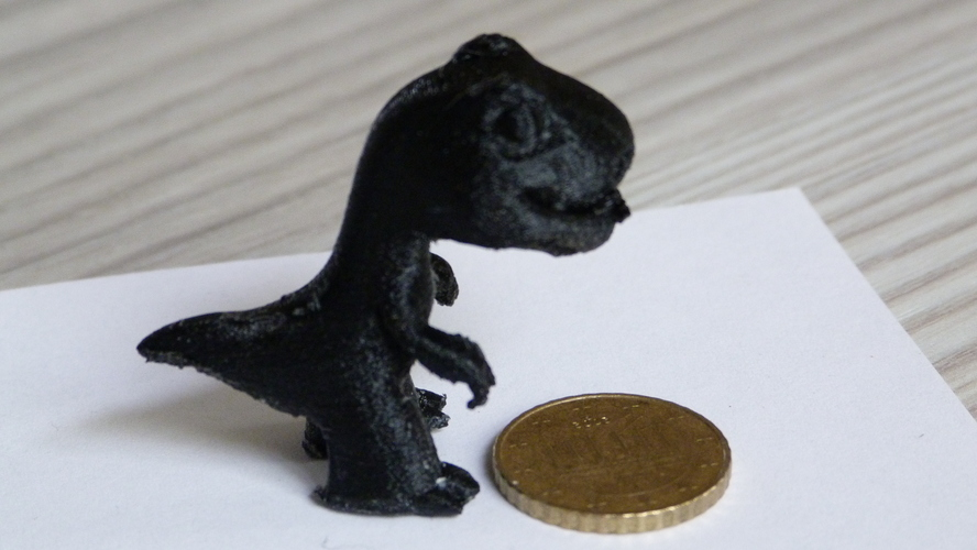 Two Dinosaurs without support 3D Print 4757