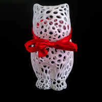 Small LASER CAT - Voronoi Style 3D Printing 4799