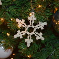 Small Snowflake Ornament 3D Printing 4846