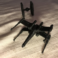 Small Low Poly X-Wing - Star Wars 3D Printing 4856